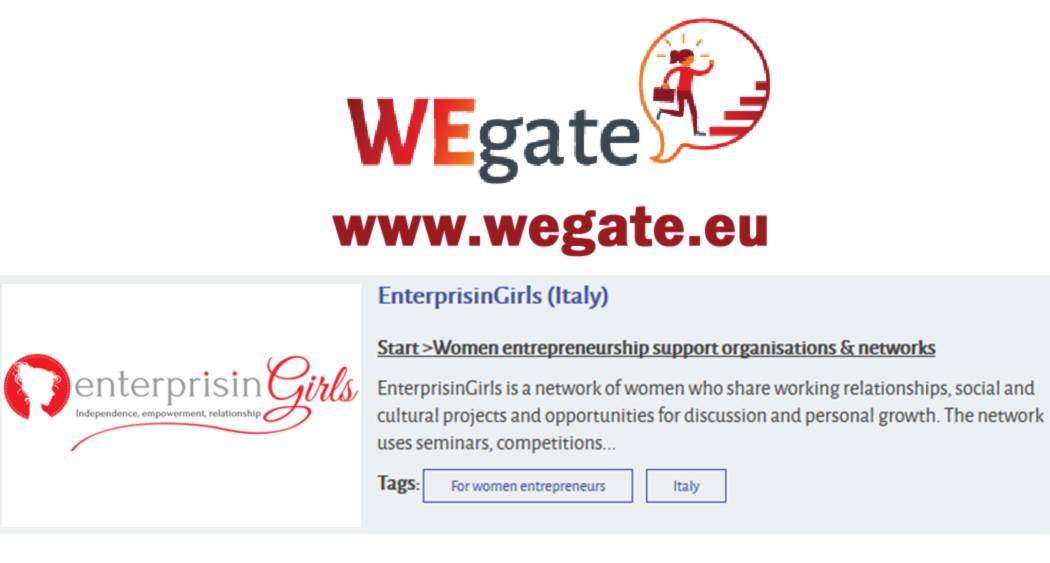 Enterprisingirls presente su WEgate - European gateway for women's entrepreneurship